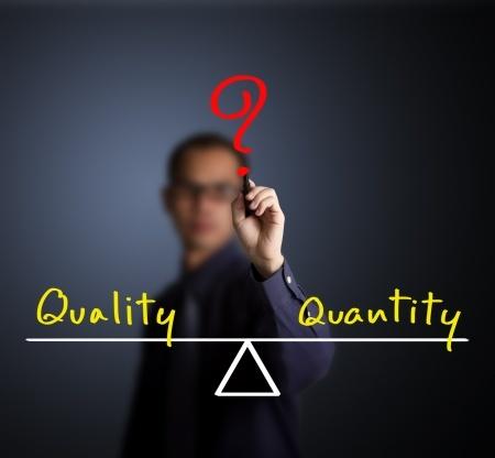 quantity business relationship vs quality business relationship